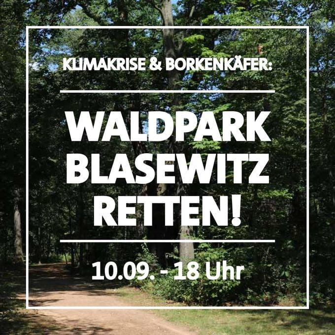 Plakat - Waldpark Blasewitz retten!